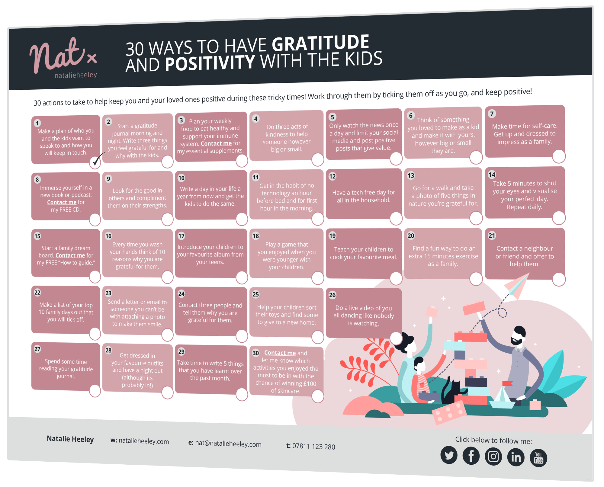 30 Ways To Have Gratitude and Positivity With The Kids
