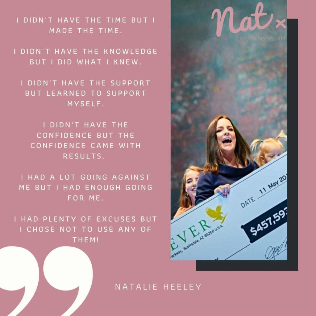 Natalie Heeley Network Marketing Quote
