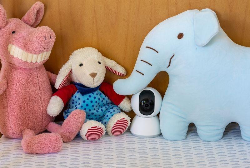 stuffed toys and spy camera