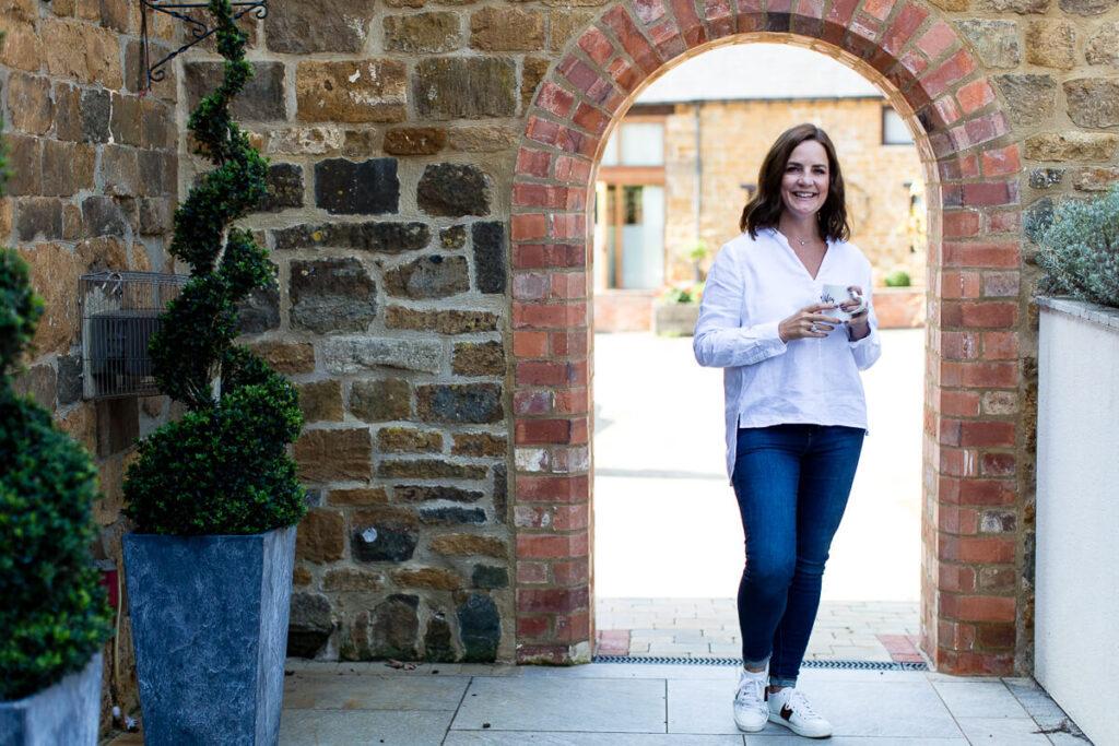 Natalie Heeley standing in a doorway