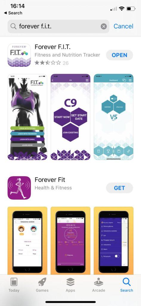 Forever F.I.T app