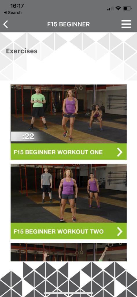 Forever F.I.T app workout