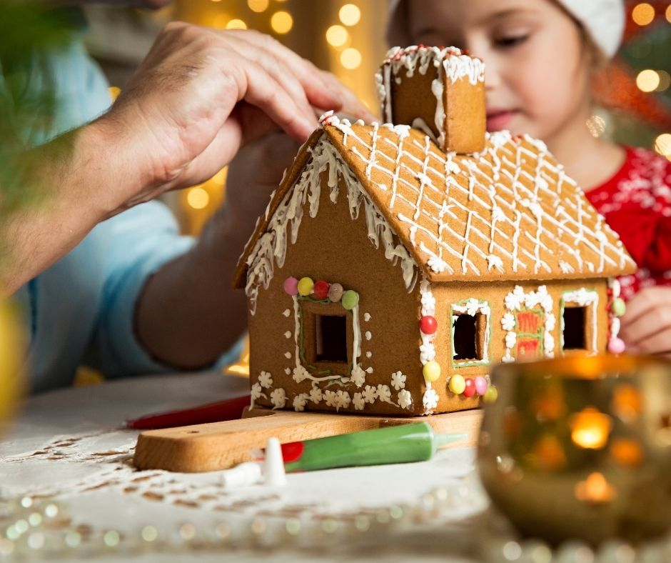 gingerbread house christmas activities for families