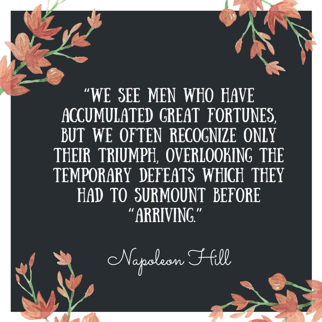 Napoleon Hill quote