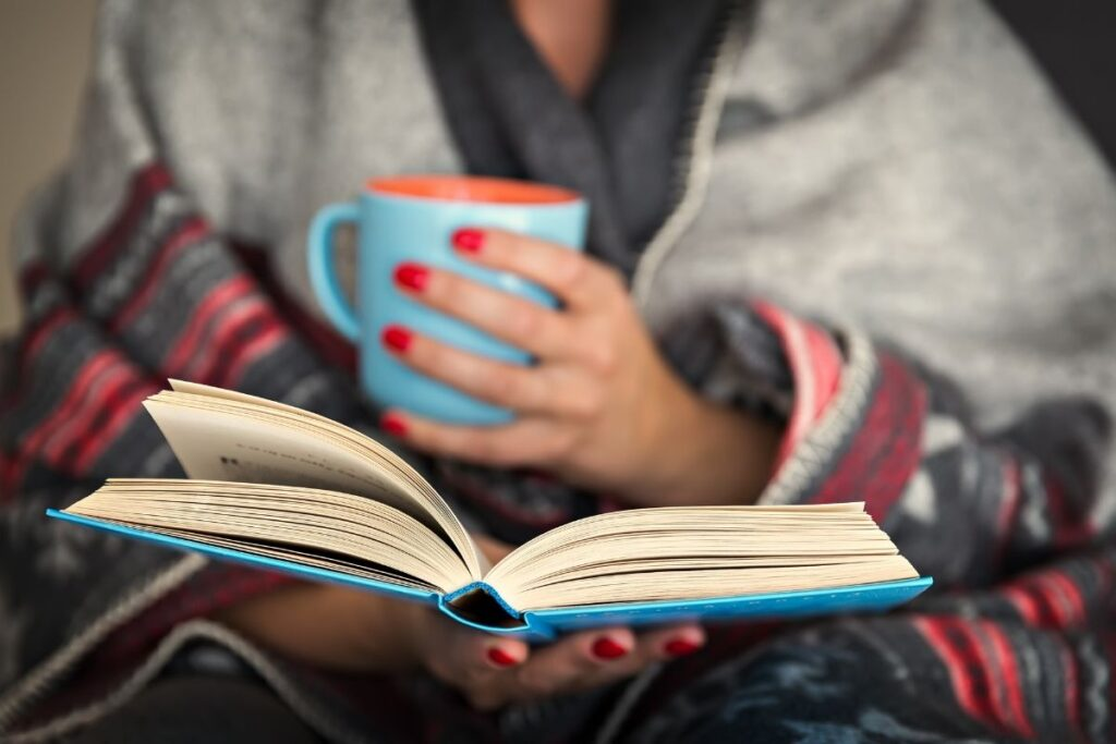 healthy morning routine with reading